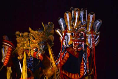 A couple of traditional Kandyan Dance masks