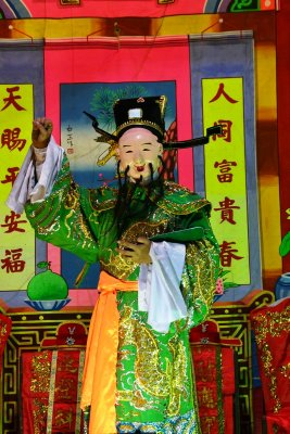 Acting out a story in the Tien Fa Charity Foundation Temple