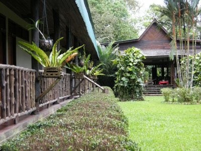 The beautiful Sukau Rainforest Lodge