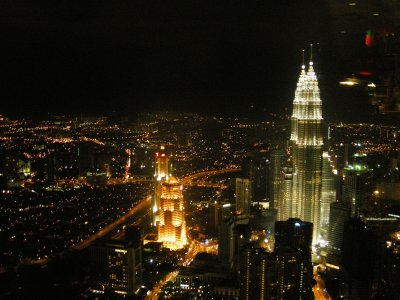 View from the KL Tower revolving Restaurant