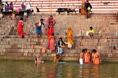 An early bath in the Ganges