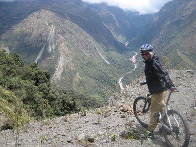 sykkeltur på vei mot Machu Picchu