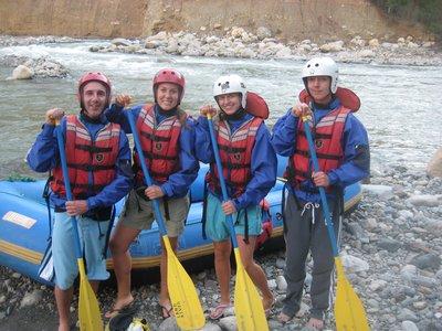rafting mot Machu