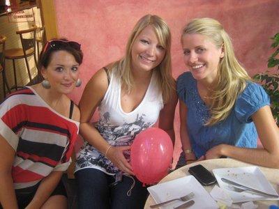 Avskjedsfrokost med Amelie, en jente vi bodde med da vi gikk på språkskole