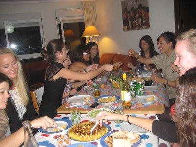 cena con maria y las chicas