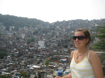Merete overlooking the Favela