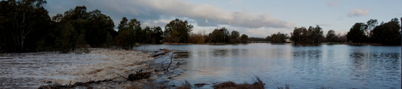 Benalla Lake after rain