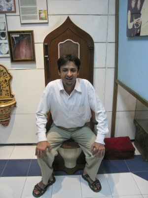 Our guide at the Sulabh Toilet Museum