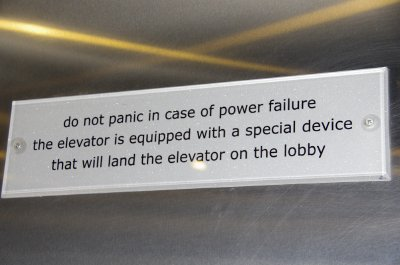 Sign in our hotel elevator! Hmmmm....