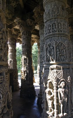 Modhera Sun Temple pillars