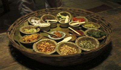 Our starter thali at Vishala