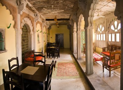 Hallway in Hotel Chanoud Garh