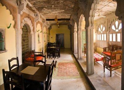 Hallway in Hotel Chanoud Garh