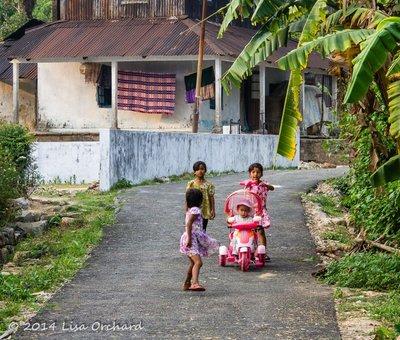 Wonderfully dressed up children in Nongwar Village