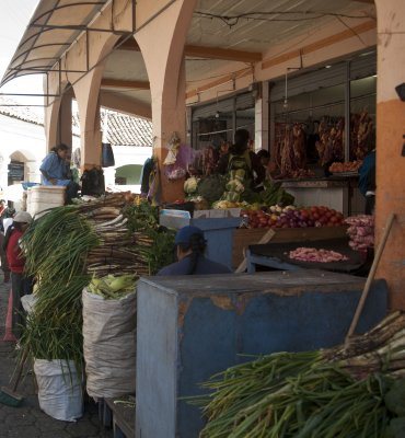 Food market in Otavalo