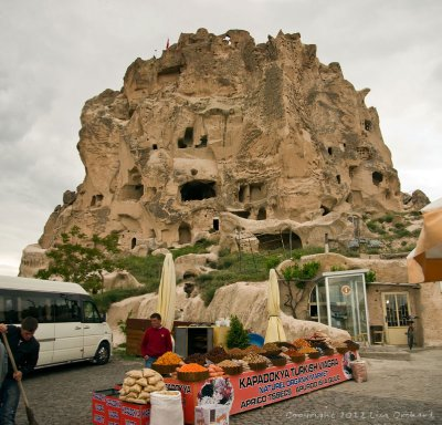 Uchisar Castle and the Sultan's Potions sold outside