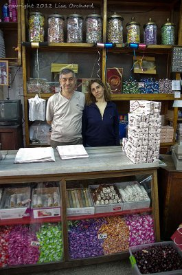 Old Ottoman family Lokum (turkish delight) store proprietor