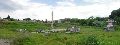 Melancholy ruins of the Temple of Artemis
