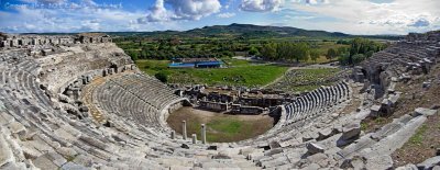 From the top of the Miletus theatre
