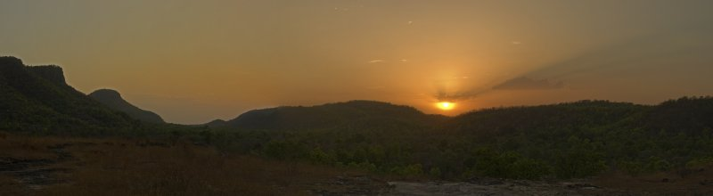 Sunset over Bandhavgarh