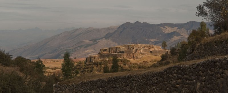Incan ruins in Urumbamba Valley