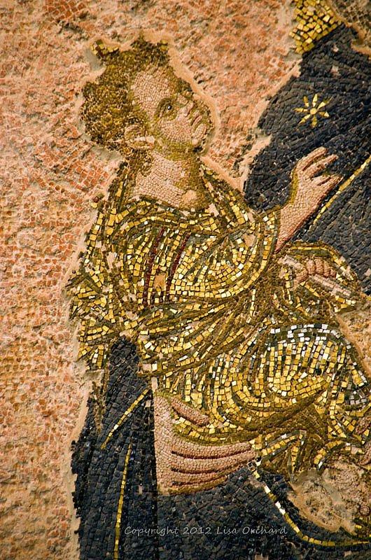 One of the fantastical mosaics in the wonderous Chora (Kariye) church