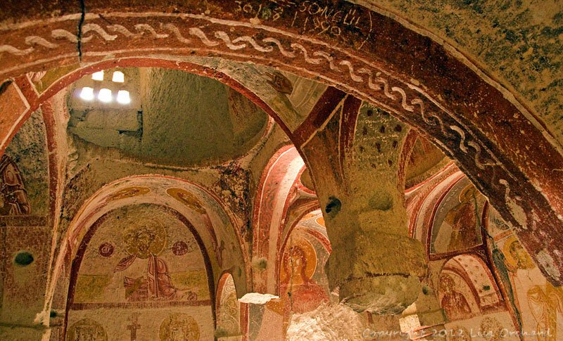 Wonderful fresco in a cave chapel