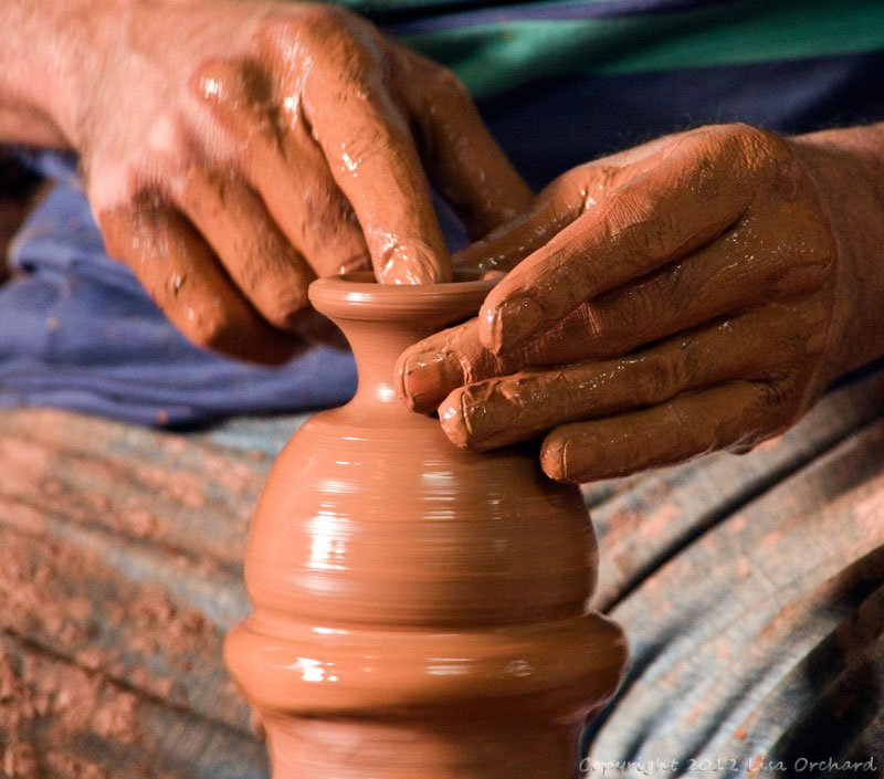 Working on pottery in Avanos
