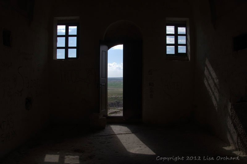 Looking out from the Yüksek (High) Church