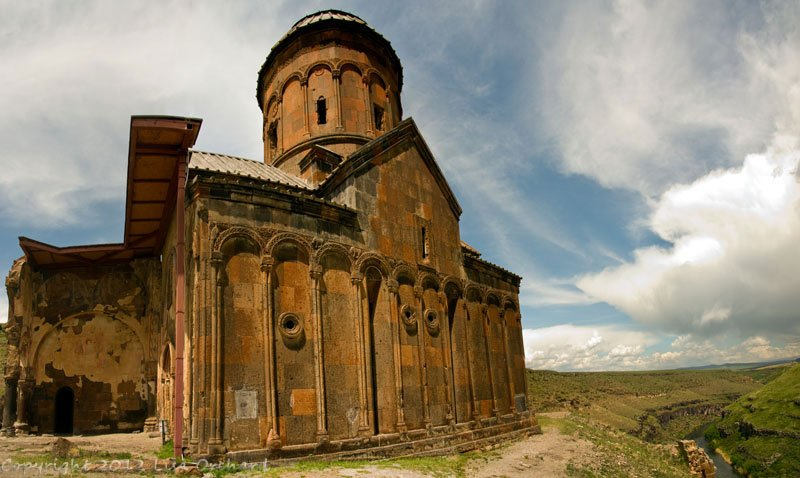 Church of St Gregory the Illuminator:  We took refuge down at this church when the rain became torrential, happily briefly. Name for the Armenian Apostle, it was built in 1215 and has incredibly colourful frescoes inside.