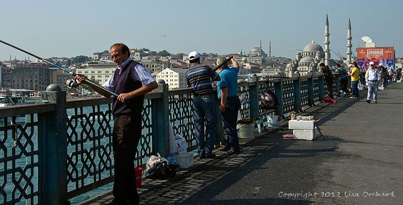Fishing for dinner on the Galata Bridge