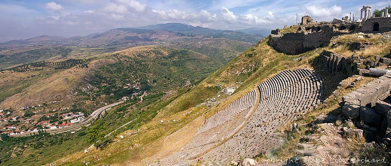 Theatre at Pergamum with Temple of Trajan above it.