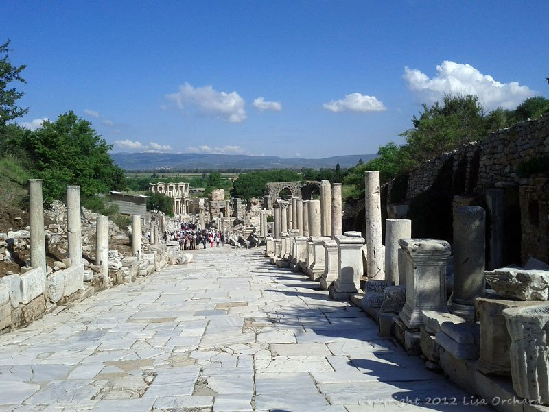 Looking down the street of Curetes to the Celsus library