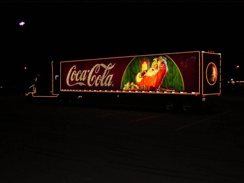 Merry Christmas from Coca Cola; Goodland, KS