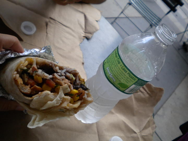 Burrito a Bryant Park