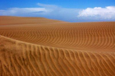 Orange sand beach