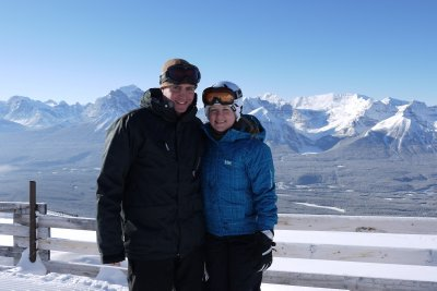 Me n Ash top of the world, Lake Louise
