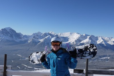 Me - top of the world, Lake Louise