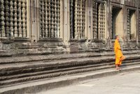 Monk in Angkor Wat