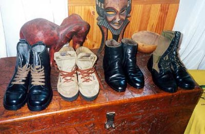 Nelson Mandela's Shoes.  Soweto.
