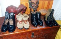 Nelson Mandela's Shoes.  Soweto.