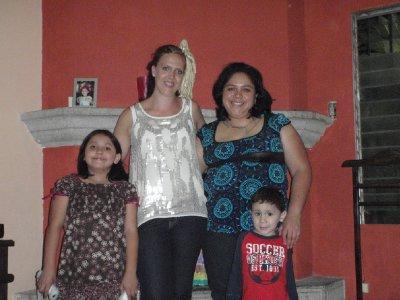 Patricia, Ana Laura, Fransisco og meg