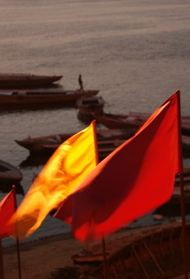 Flags Along the Ganges