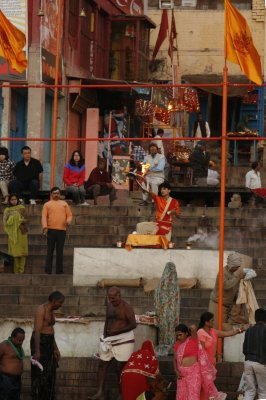 Hindu Priest at the Dasashwamedh Ghat