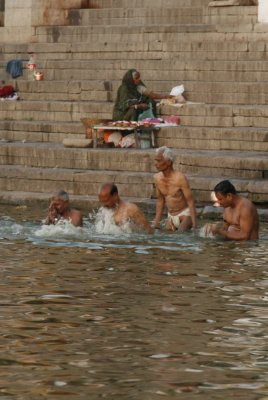 Men Bathing in the Ganges