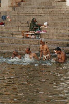 Men Bathing in the Ganges