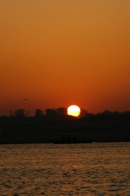 Sunrise Over the Ganges River