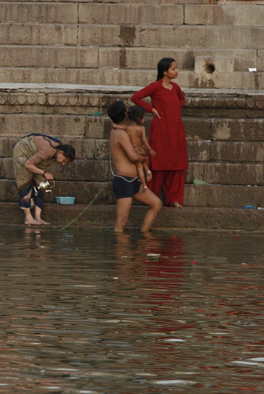Family Bathing in the Ganges