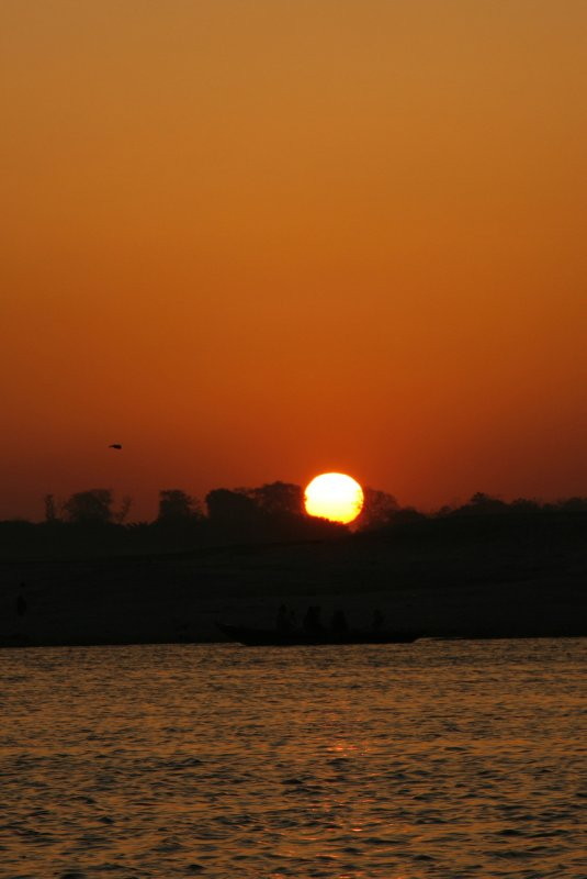 Sunrise Over the Ganges River