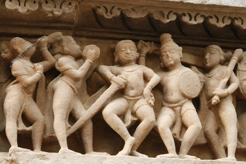Soldiers at Khajuraho